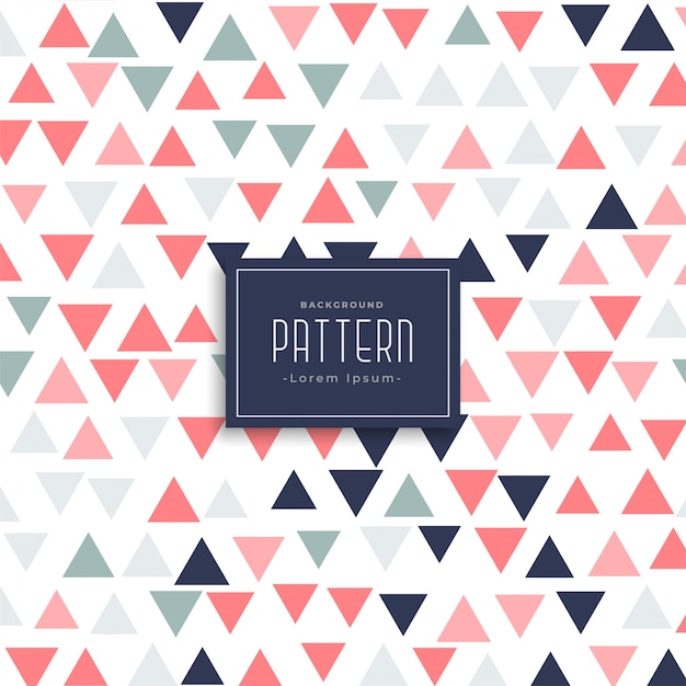 Modern triangle pattern vector background Free Vector