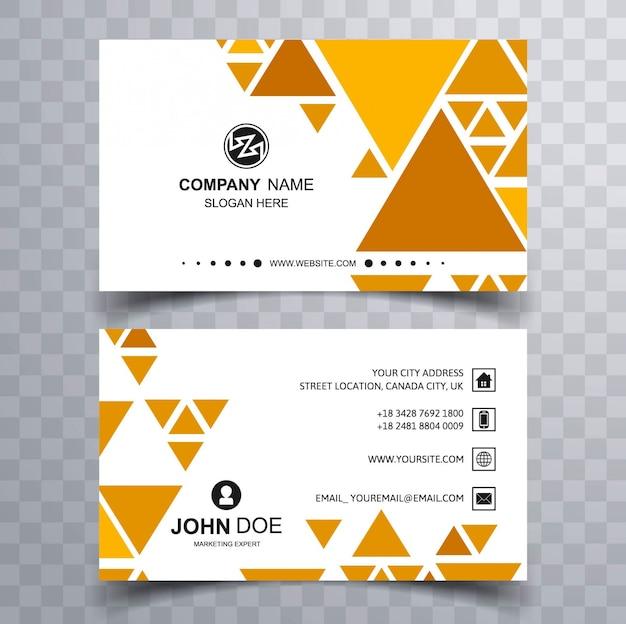 modern triangular business card vector free download
