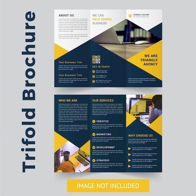 Modern trifold brochure design Premium Vector