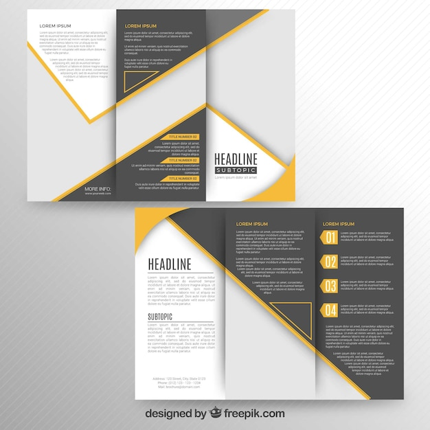 Modern trifold brochure Free Vector