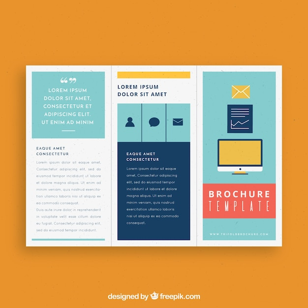 Modern trifold business brochure template