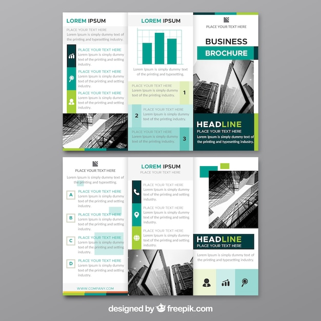 modern trifold flyer template vector free download