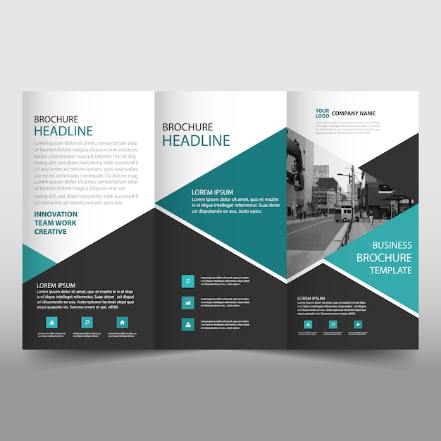 modern trifold leaflet template vector free download