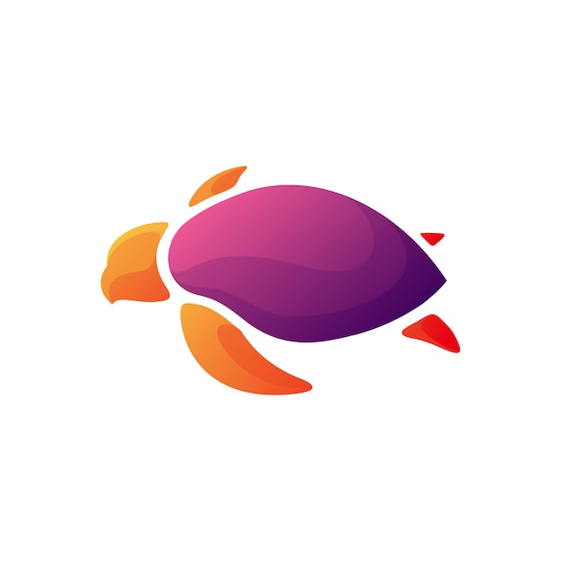 Modern turtle  illustration design Premium Vector
