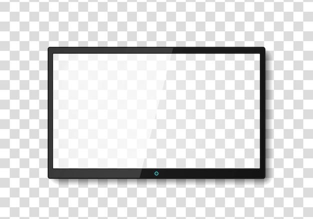 Modern tv screen. lcd or led tv screen. Premium Vector