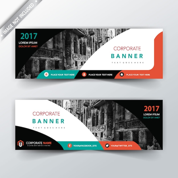 modern two sided banner design Free Vector