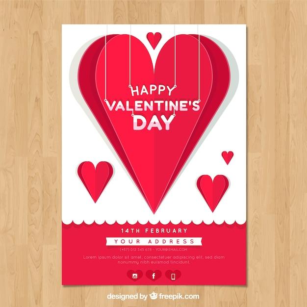Modern Valentines Day Flyer Design Vector Free Download