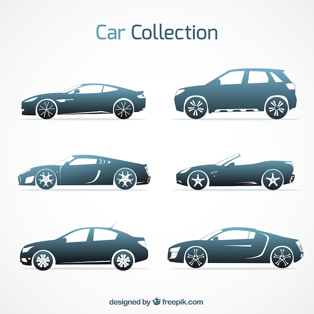 modern variety of elegant cars vector free download