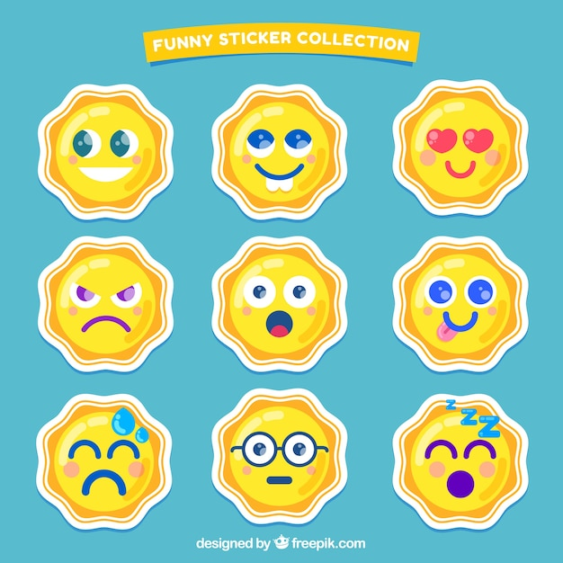 Modern variety of emoticons stickers