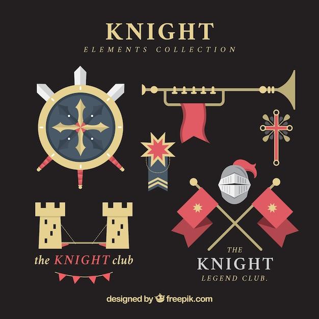 Modern variety of flat knight elements