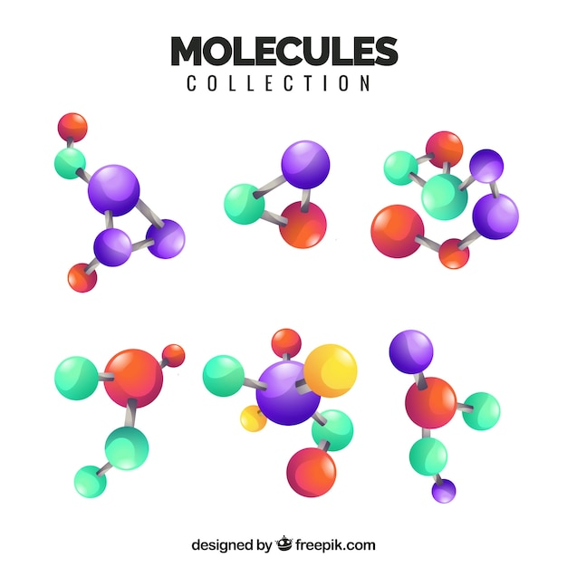 Modern variety of realistic molecules