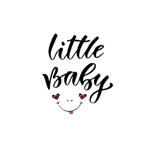 b1fb0352b Modern vector calligraphy. my little baby. handwritten phrase. kids ...