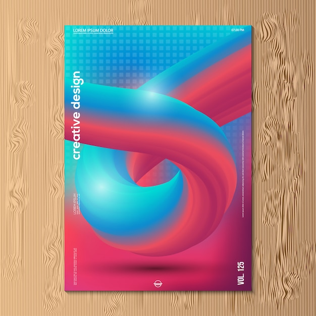 Modern vector illustration design of abstract gradient Premium Vector