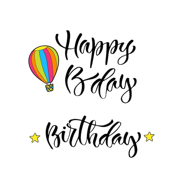 picture relating to Happy Birthday Lettering Printables titled Innovative vector lettering. printable calligraphy time period. satisfied