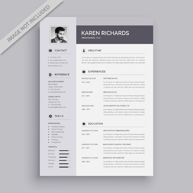 Modern vector resume template Premium Vector