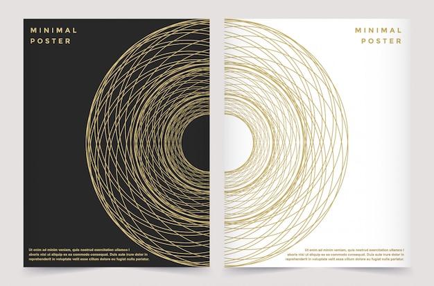 Modern vector template for brochure leaflet flyer advert Premium Vector