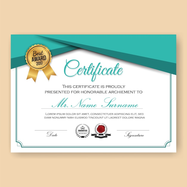 Award Certificate Vectors Photos and PSD files – Award Certificate