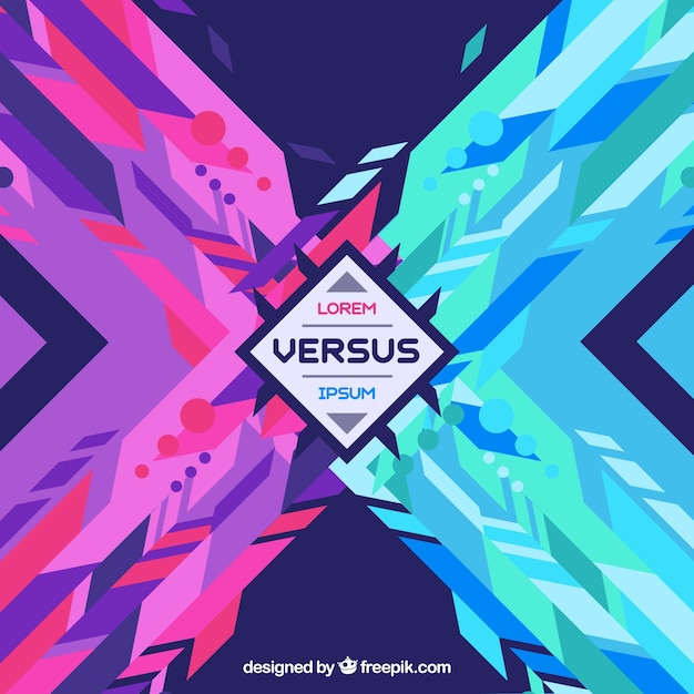 Modern versus background with geometric style