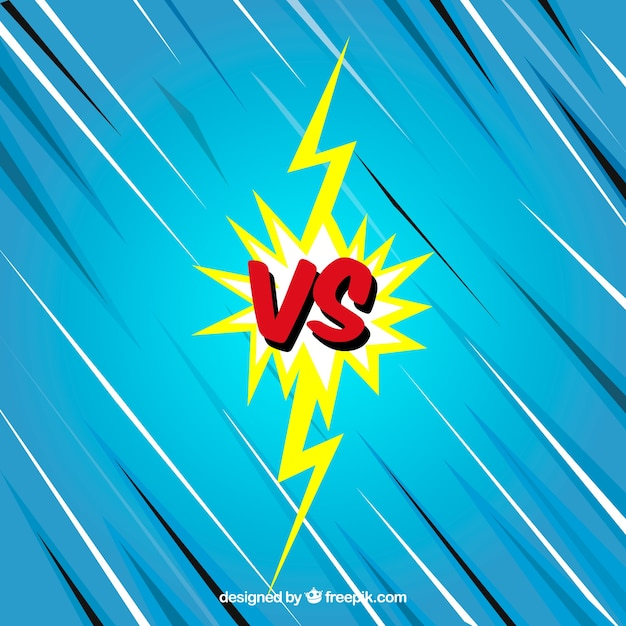Modern versus background with lightning bolt