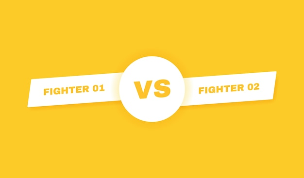 現代対戦闘の背景。対バトルの見出し。競技者、戦闘機またはチーム間の競争。図。 Premiumベクター