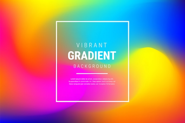 Modern vibrant blurred gradient effect background Free Vector