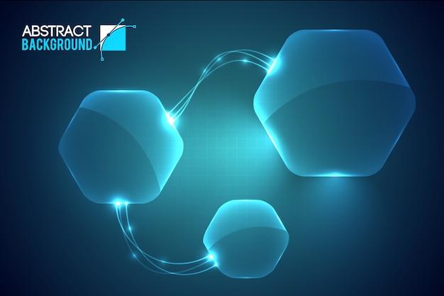 Sfondo di interfaccia virtuale moderna Vettore gratuito