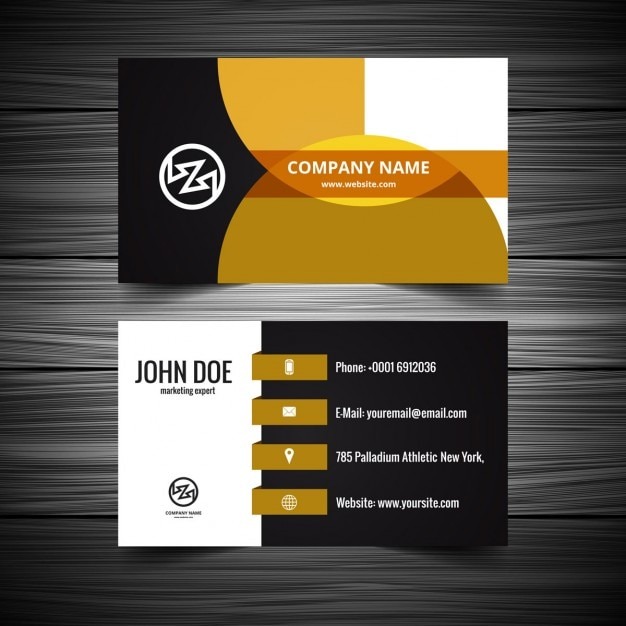 Modern Visiting Card Design Vector Free Download