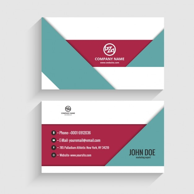 Modern visiting card in geometrical style vector free download modern visiting card in geometrical style free vector colourmoves