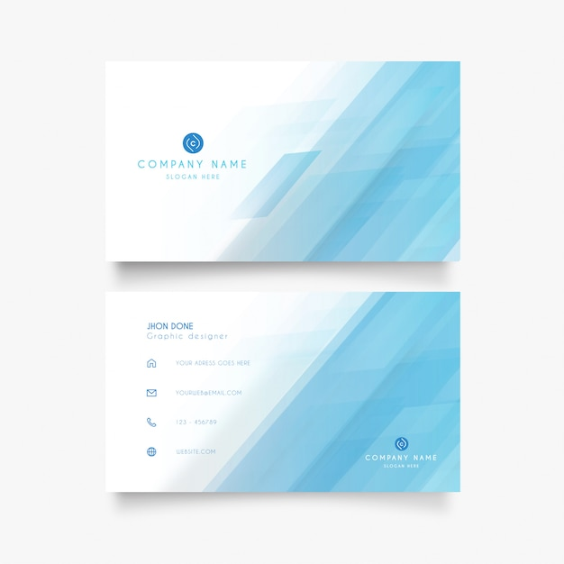 Modern visiting card with clean design Free Vector