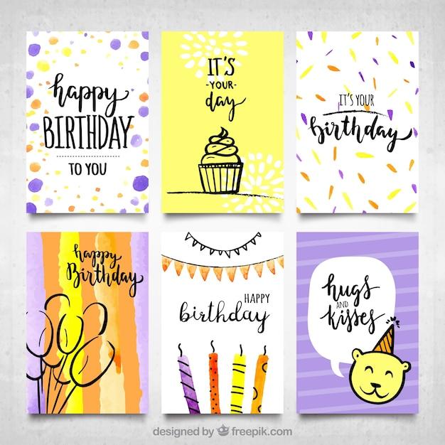 Encantador Tarjetas De Cumpleaños Colorable Imágenes - Dibujos de ...