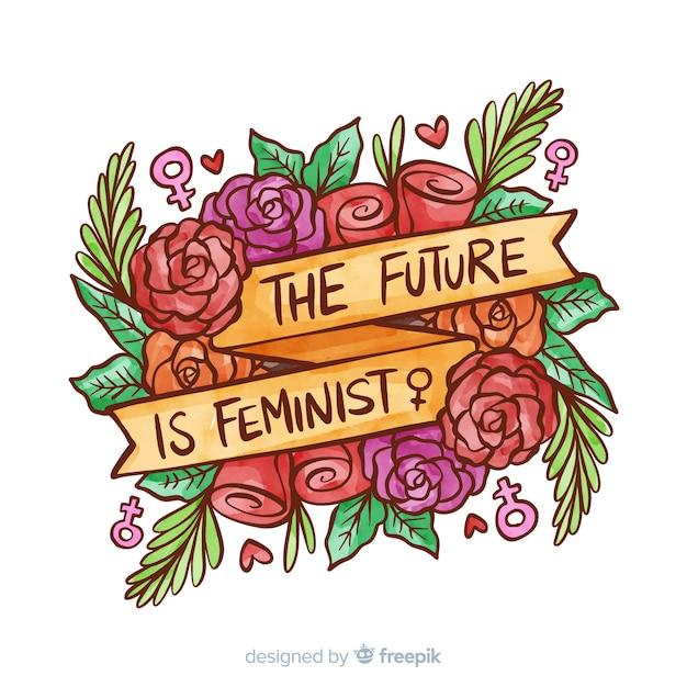 Modern watercolor feminism concept Free Vector