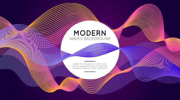 Modern waves background Free Vector