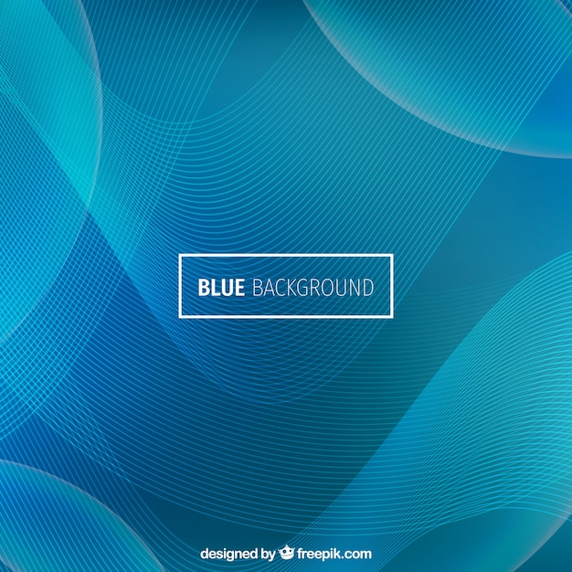 Modern wavy background, blue color