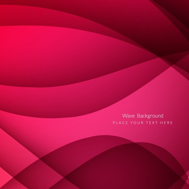 Modern wavy background in color fuchsia Free Vector