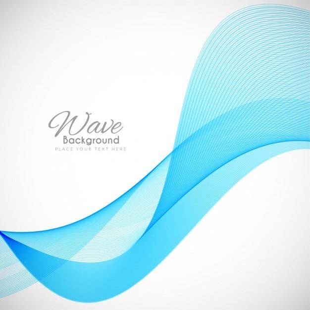 Modern wavy background Free Vector