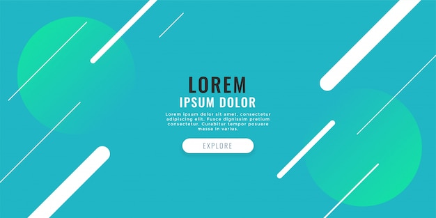 Modern web banner with diagonal lines background Free Vector