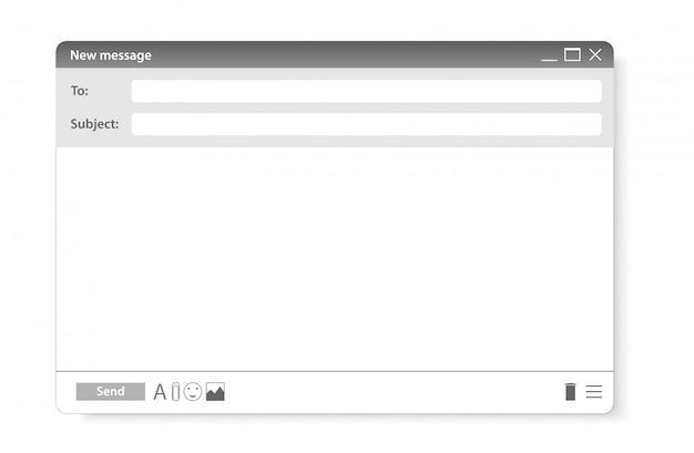 Modern website email page. site form send element Premium Vector