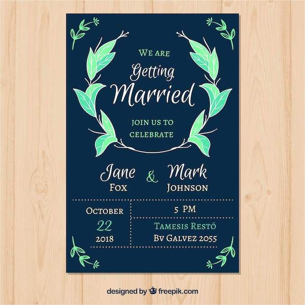 Modern wedding invitation template vector free download modern wedding invitation template free vector stopboris Image collections