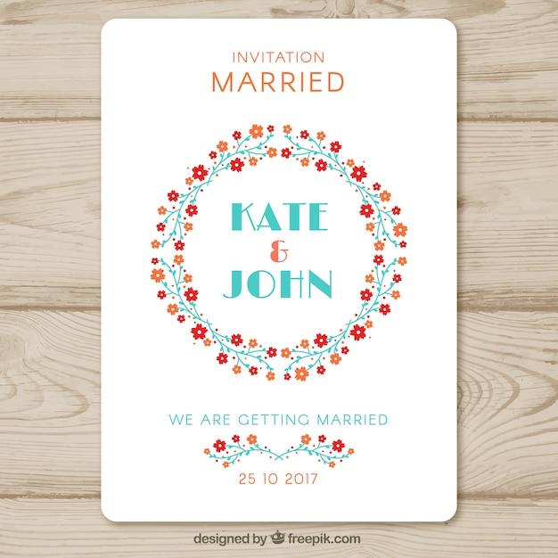 Modern Wedding Invitation Template Vector Free Download - Modern wedding invitation templates