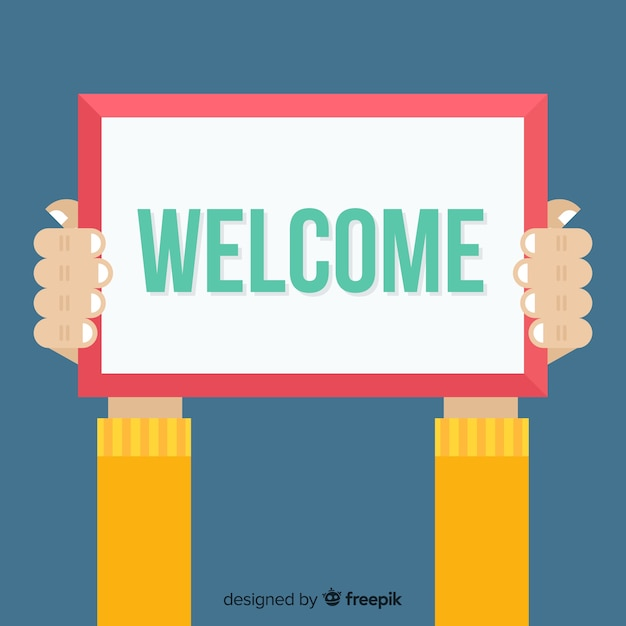 Modern welcome composition with flat design Free Vector