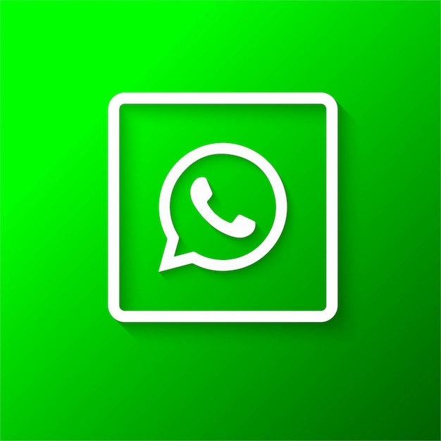 Modern whatsapp logo Free Vector