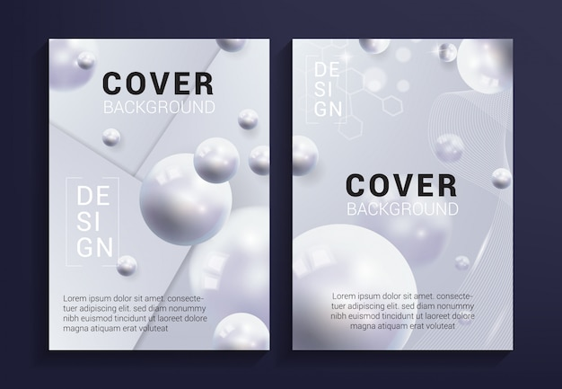 Modern white cover background Premium Vector