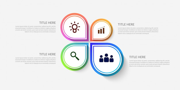 Modern workflow infographic template Premium Vector