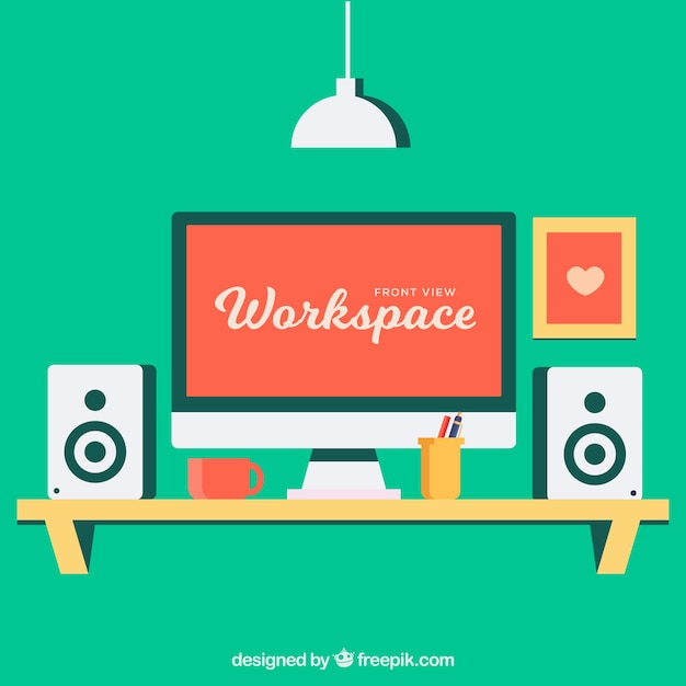 Modern workspace with lovely style