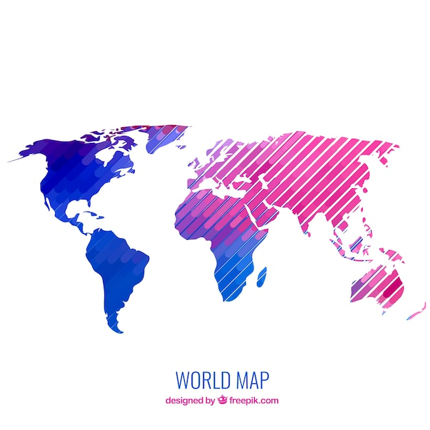 Modern world map vector free download modern world map free vector gumiabroncs Gallery