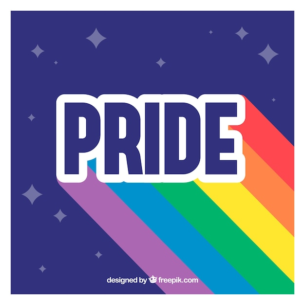 Modern world pride background Free Vector
