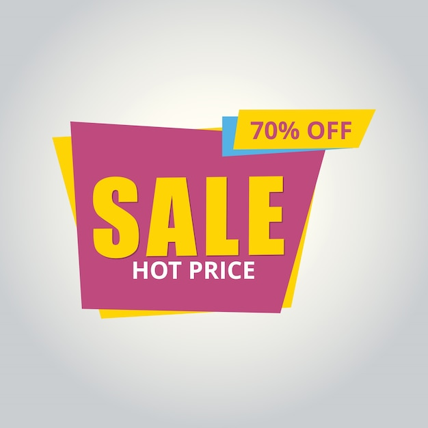 Modern yellow and pink sale banner
