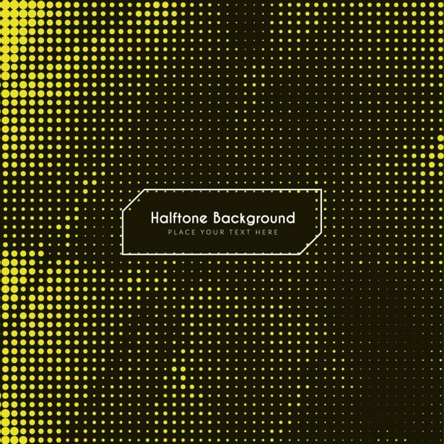 Modern yellow background with halftone dots