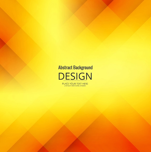 Modern yellow geometric background Free Vector