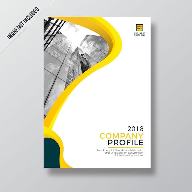 Modern yellow style design company profile template Vector | Premium ...